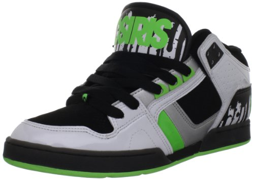 Osiris Men's NYC 83 Mid Skate Shoe,White/Lime/Drips,13 M US