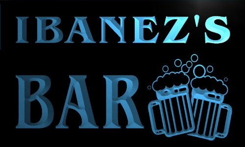 w005328b IBANEZ Name Home Bar Pub Beer Mugs Cheers Neon Light Sign Enseigne Lumineuse Picture