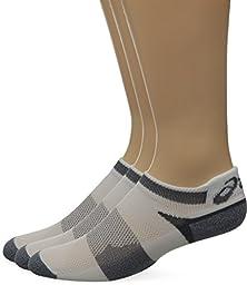 ASICS Quick Lyte Cushion Single Tab Socks, White/Grey Heather, X-Large