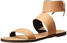 Rebecca Minkoff Women\'s Emma Flat Sandal, Nude Vachetta, 8.5 M US