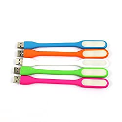 Combo Of 5pcs(Mix Colours)-Tfpro L002 Portable USB Flexible Mini LED Light Stick Night Lamp for Tablet, Laptop, PC, Notebook, Selfie Camera Flash, Night Book Reading Lamp With Free 5 Pcs MIcrosd M003 Memory Card Reader (Pack Of 10pcs) Only From M.P Enterprise