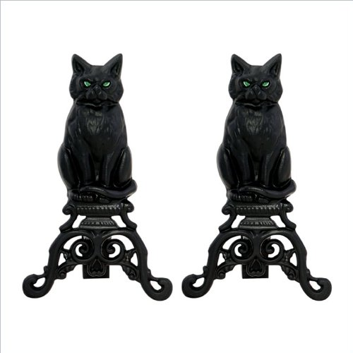 Why Should You Buy Uniflame Black Cast Iron Cat andirons with Reflective Glass Eyes