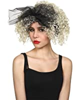 Ladies 80's Material Girl Wig Outfit Accessory for Fancy Dress Womens