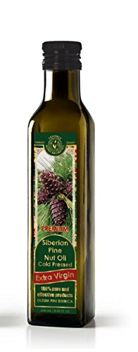 Siberian Pine Nut Oil Cold Pressed Extra Virgin 8.4 FL OZ/250ml