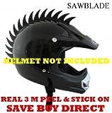 Motorcycle Dirtbike Snowmobile Atv Saw Blade Helmet Warhawk Helmets Mohawk Helmet Not Included