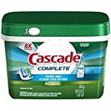 Cascade Complete All-in-1 ActionPacs Dishwasher Detergent, Fresh Scent, 46-Count