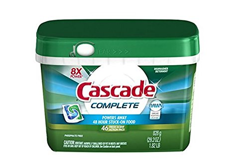 Cascade Complete ActionPacs Dishwasher Detergent Fresh Scent 46 Ct (Commercial Dish Washer Detergent compare prices)