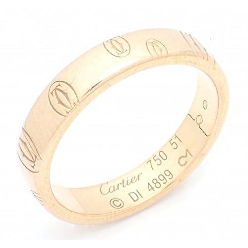 [カルティエ] Cartier ハッピーバースデー ウェディング リング K18PG ピンクゴールド #51 B4051100 B4051147