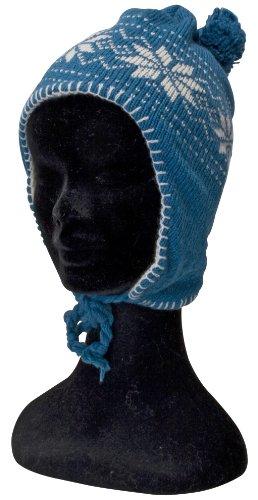 Norweger Winter Set 3- teilig für Damen bestehend aus 1 Paar Handschuhe und einer Mütze - erhältlich in 10 Farben Farbe hellblau