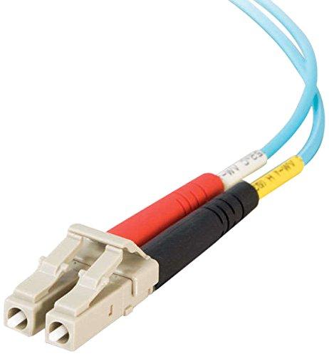 C2G / Cables To Go 33050 Lc-Lc 10Gb 50/125 Om3 Duplex Multimode Pvc Fiber Optic Cable, Aqua (10 Meter)