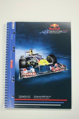 Collegeblock DinA5 aus der RedBull Vettel-Serie (Motiv: Fahrzeug)