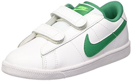 Nike Tennis Classic (Psv) Scarpe da tennis, Bambini e ragazzi, Multicolore (White/Lcd Green-White-Vltg Grn), 34