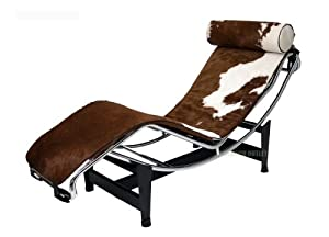 Brown and white pony lc4 le corbusier for Chaise game free download
