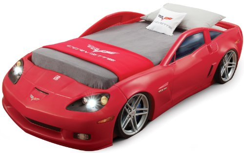 Step2  Corvette Bed with Lights - Red/Silver/Black - 1
