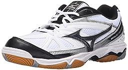 Mizuno Women\'s Wave Hurricane 2 Volleyball Shoe, White/Black, 9 D US