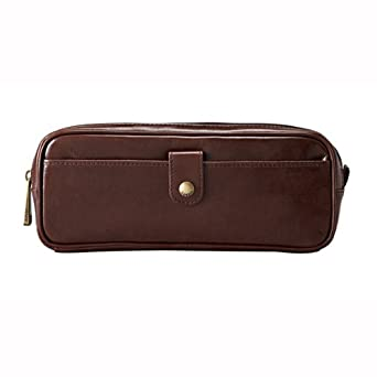 Mans leather Toiletry bag SLM TRANSIT SMALL ACCESORY POUCH DK BRN ML8234201