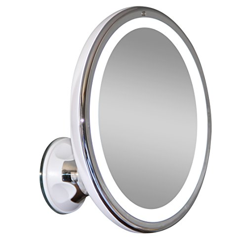 wireless cordless collapsible led lighted makeup mirror vanity travel. Black Bedroom Furniture Sets. Home Design Ideas