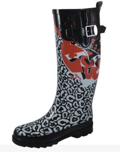 Sweet Beauty Women's Rubber Rain Boots Graffiti Print Wr9125 N11,12,13,10