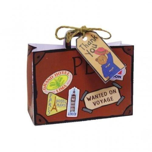 Paddington Bear Paper Party Loot Bags & Thank You Tags x 8