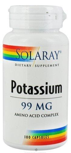 Solaray - Potassium, 99 mg, 100 capsules by SOLARAY (Solaray Potassium 99 Mg compare prices)
