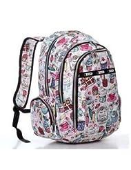 ColorCity ® Cake Pattern Backpack School Bag Cute Travel Shoulder Bag For Girls Students