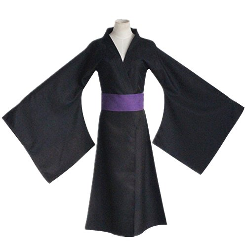 [Mtxc Men's Noragami Cosplay Costume Yato Kimono Size Small Black] (Yato Cosplay Costume)