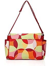 Colorland Large Capacity Waterproof Microfiber Nappy Bag, Diaper Bag, Messenger Bag Multi Colour Circles