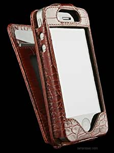 Sena 156319 Walletskin  Leather Case for iPhone 4 & 4S - 1 Pack - Case - Retail Packaging - Croco Tan