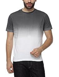 PepperClub Men's Cotton Round Neck Half Sleeve Gradient Tshirt