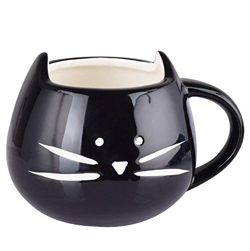 fpbs nette neizende katzen tasse becher k tzchen kaffee tasse tee tasse kaffeetasse schwarz. Black Bedroom Furniture Sets. Home Design Ideas