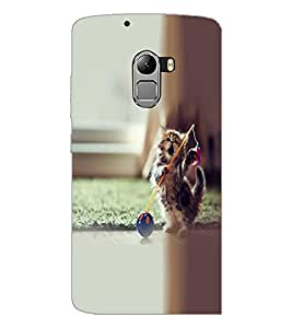 PrintDhaba Playing kitty D-2140 Back Case Cover for LENOVO VIBE K4 NOTE (Multi-Coloured)
