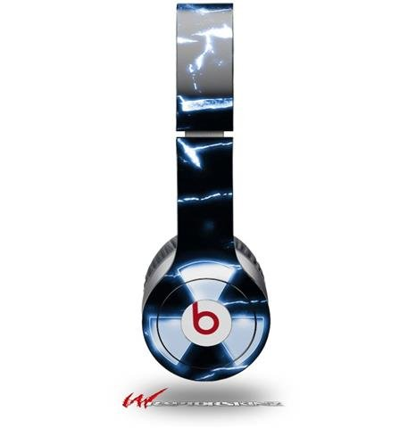 Radioactive Blue Decal Style Skin (Fits Genuine Beats Solo Hd Headphones - Headphones Not Included)