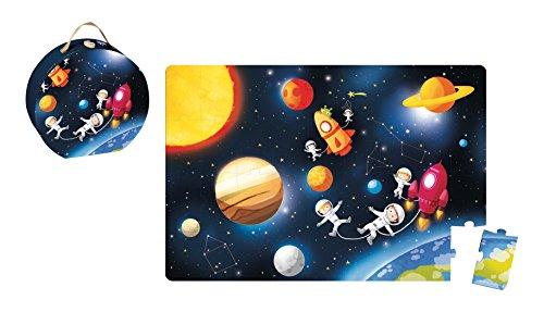 Janod - J02995 - Valisette Puzzle Géant Galaktic 36 pcs