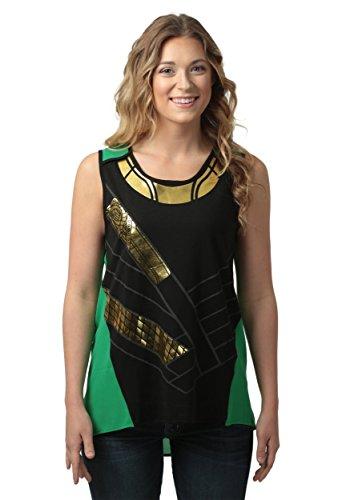 [Loki Foil Costume Women's Tank Top- Slim Large] (Loki Costume)