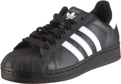 adidas Superstar II, Unisex-Erwachsene Laufschuhe, Schwarz (Black/White/Black), 41 1/3 EU (7.5 Erwachsene UK)