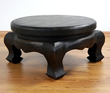 Runder opiumtisch beistelltisch massivholz couchtisch asia - Opiumtisch chrom ...