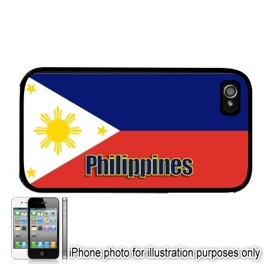 Philippines Pilipinas Name Flag Apple iPhone 4 4S Case Cover Black