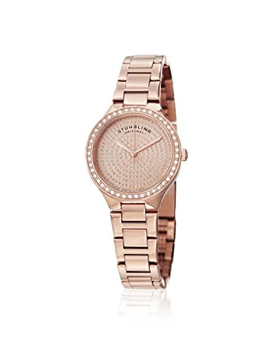 Stührling Women's 683 Symphony Rose/Rose Stainless Steel Polished Bezel and Case Watch
