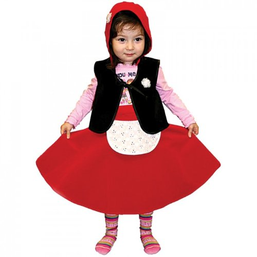 Little Red Riding Hood Costume (Size 28, Ages 3-4)