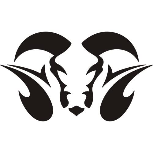 Amazon.com - Tattoo style bull head skeleton, Vinyl Sticker Wall Art