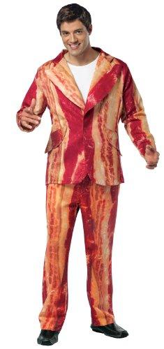 Rasta Imposta Bacon Suit, Brown, Adult Large