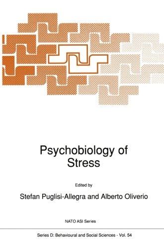 Psychobiology Of Stress (Nato Science Series D:)