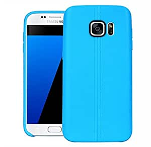 Galaxy S7+ Back Cover, ARMOR TPU Back Case Cover For Samsung Galaxy S7+ (Blue)