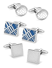 3 Pairs of Assorted Cufflinks