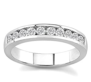10k White Gold or Yellow Gold Channel-Set Diamond Band (H/I2-I3, 1/2 ct. tw.)