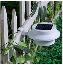 Lycheereg Solar Powered 3 LED Sink Fence Gutter Lamp Light Outdoor Wall Pathway Garden 1PCS