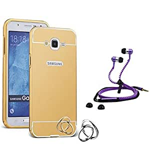 Droit Luxury Metal Bumper + Acrylic Mirror Back Cover Case For + Samsung Note2 Stylish Zipper Handfree and Good QualitySound by Droit Store.