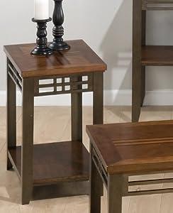 Jofran Barrington Cherry 24x16 Chairside Table