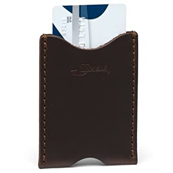 Saddleback Leather Wallet Sleeve in Dark Coffee Brown: Full Grain Leather with 100 Year Warranty