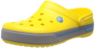 Crocs Men's Crocband II.5 Clog,Yellow/Light Grey,6 M US